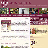Screenshot der neuen AKO-Website