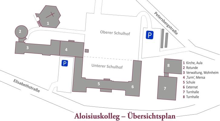 Übersichtsplan Aloisiuskolleg