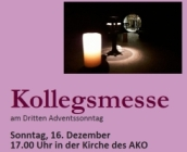 Kollegsmesse am AKO - 3. Advent - 16. Dezember 17.00 Uhr