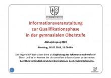 Info zu den LK-Wahlen Q1 (2018)