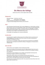 Informationen zur Mensa