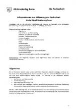 Informationen zur Abfassung der Facharbeit in der Qualifikationsphase (derzeit gültige Fassung von 2016)