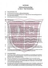 Satzung der Stiftung Aloisiuskolleg zu Bonn - Bad Godesberg