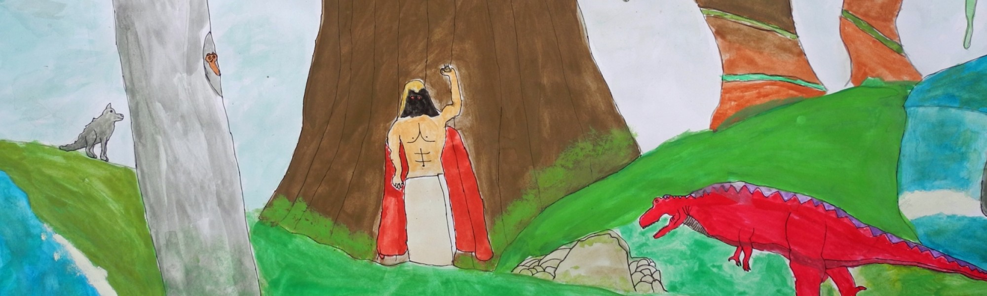 """Schüler-Bild zum Thema """"Urwald"""""""